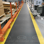 耐磨抗腐钢化纹抗疲劳地垫工业工厂车间缓冲减压垫