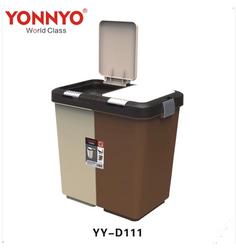 永耀直供双体弹盖式垃圾桶 学校办公室组合式双扣连接分类垃圾桶