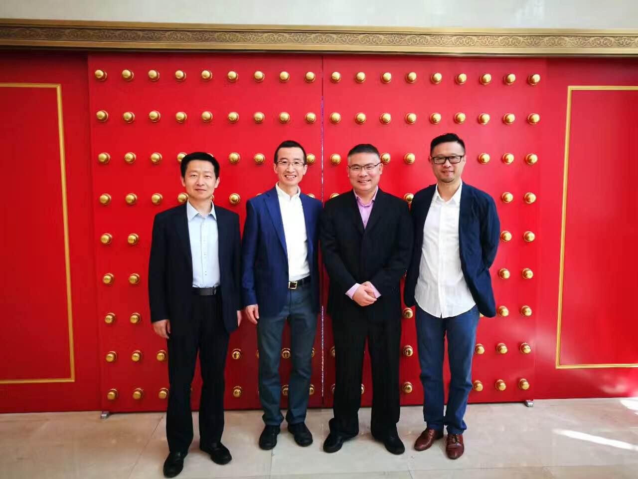 水威环境董事长张晏琦与中国清洁博览会创始人宋喆等嘉宾合影