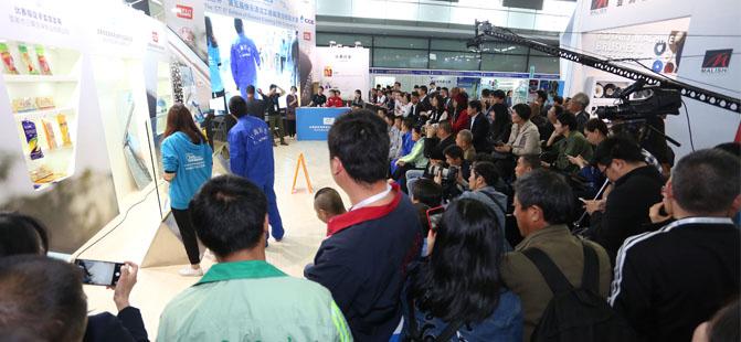 2017上海清洁展玻璃清洁比赛