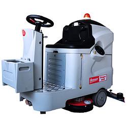 机械加工厂清洗地面用小型驾驶式电动拖地机