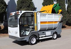 城乡环卫一体化垃圾清运和转运,新型电动垃圾清运车显神通